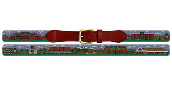 Colorado College Needlepoint Belt