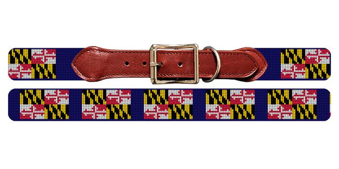 Maryland Flag Dog Collar