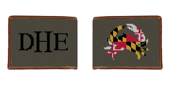 Maryland Crab Needlepoint Wallet