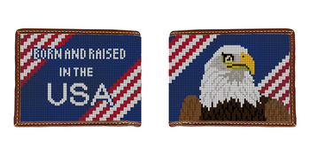 Eagle Needlepoint Wallet