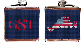 Martha's Vineyard Needlepoint Flask