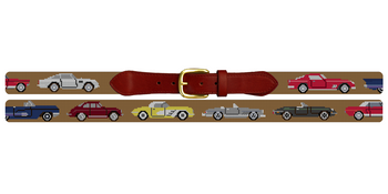 Classic Cars Needlepoint Belt