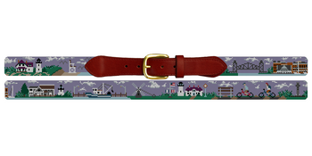 Cape Cod Needlepoint Belt
