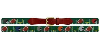 Custom Football Needlepoint Belt