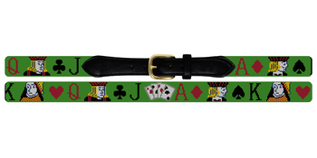 Poker Needlepoint Belt