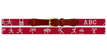 Track and Field Needlepoint Belt