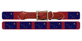 Alaska Flag Needlepoint Dog Collar