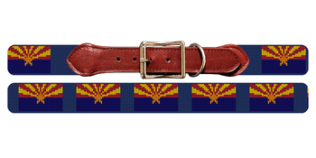 Arizona Flag Needlepoint Dog Collar