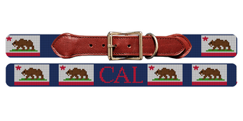 California Flag Needlepoint Dog Collar