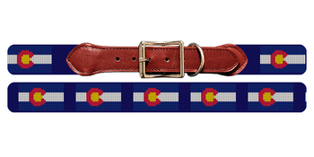 Colorado Flag Needlepoint Dog Collar