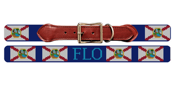 Florida Flag Needlepoint Dog Collar
