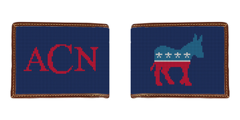Democratic Needlepoint Wallet
