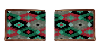 Aztec Needlepoint Wallet