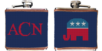 Republican Needlepoint Flask