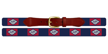Arkansas Flag Needlepoint Belt