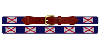 Alabama Flag Needlepoint Belt