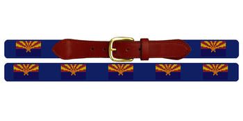 Arizona Flag Needlepoint Belt