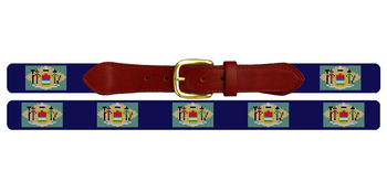 Delaware Flag Needlepoint Belt