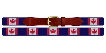 Canada Flag Needlepoint Belt