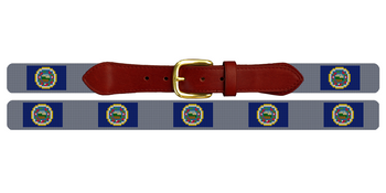 Minnesota Flag Needlepoint Belt