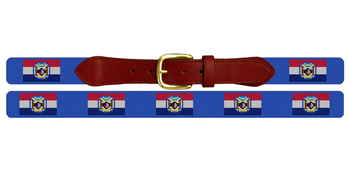 Missouri Flag Needlepoint Belt