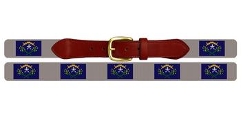 Nevada Flag Needlepoint Belt