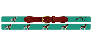 Springer Spaniel Needlepoint Belt