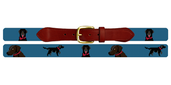 Labrador Retriever Needlepoint Belt