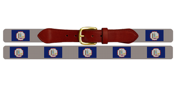 Virginia Flag Needlepoint Belt