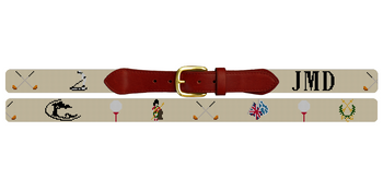 Custom Golf Needlepoint Belt