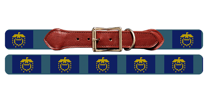 Oregon Flag Needlepoint Dog Collar