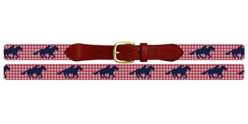 Gingham Derby Needlepoint Belt