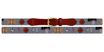 Basketball Needlepoint Belt