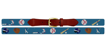 Baseball Needlepoint Belt