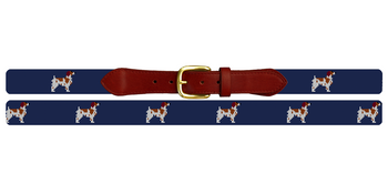 Brittany Spaniel Needlepoint Belt
