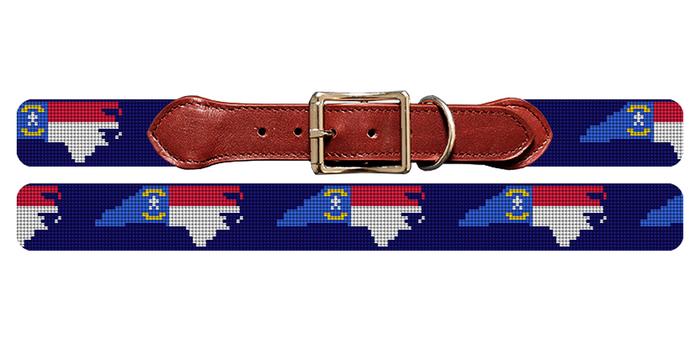North Carolina State Flag Dog Collar