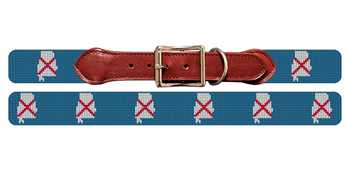 Alabama State Needlepoint Dog Collar