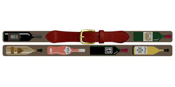 Custom Wine Needlepoint Belt