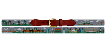 San Francisco Landscape Needlepoint Belt