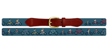 Bicycle Needlepoint Belt