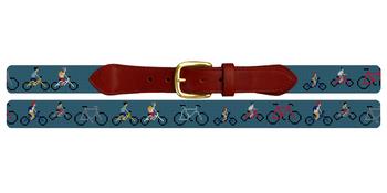 Bicycle Needlepoint Belt