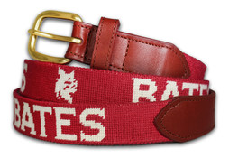 Bates College Needlepoint Belt
