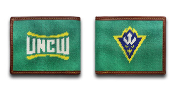 University of North Carolina Wilmington UNCW Seahawk Needlepoint Wallet