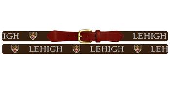 Lehigh University Crest Needlepoint Belt