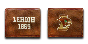 Lehigh University Mountain Hawk Needlepoint Wallet