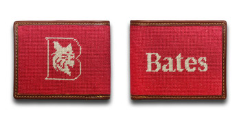 Bates College Bobcats Needlepoint Wallet