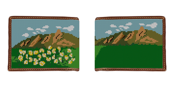 Boulder Flatirons Needlepoint Wallet