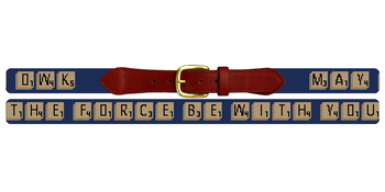 Classic Word Game Needlepoint Belt