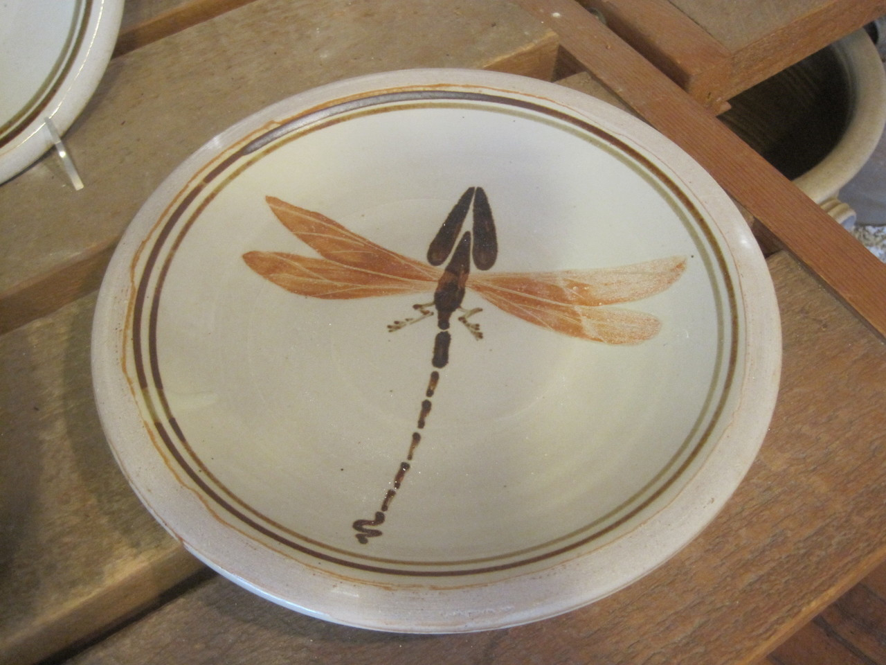 Dragon Fly Motif for the Flatware-Dinner Plate-$30