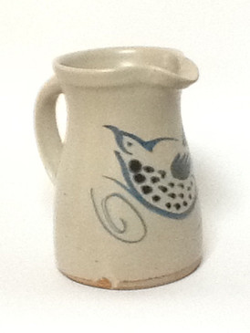 One Quart Straight Pitcher-Blue Bird